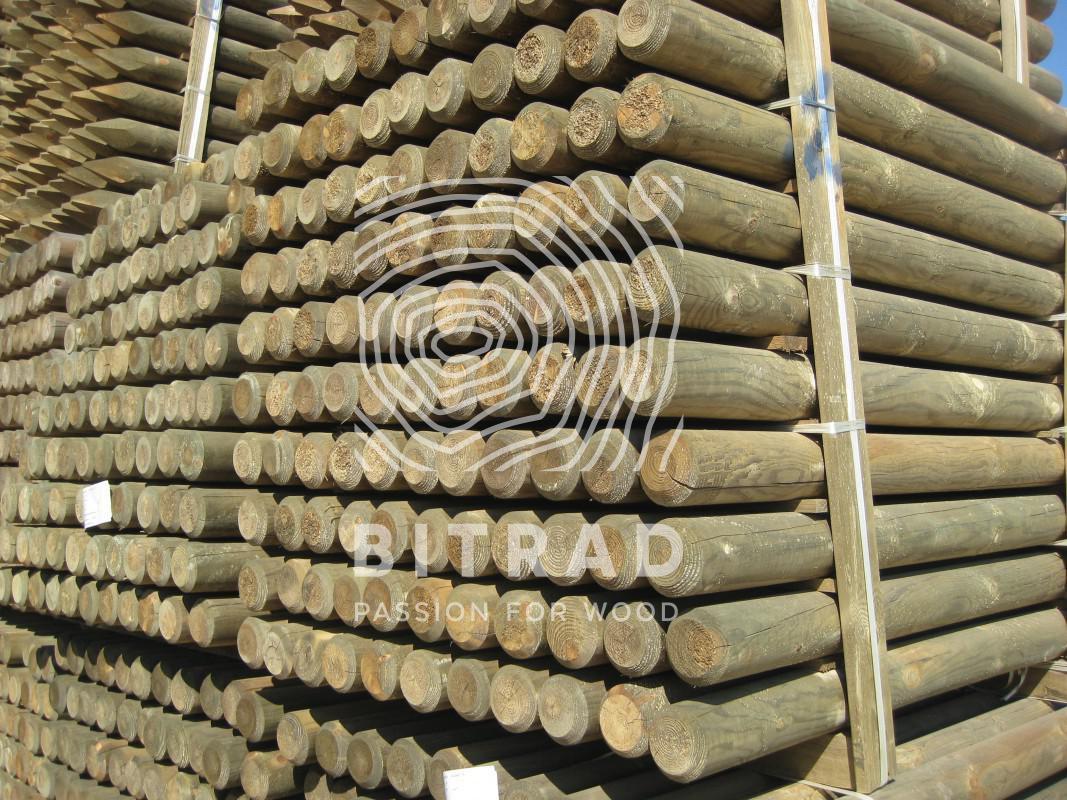 Pali torniti pino impregnati. PPHU Bitrad